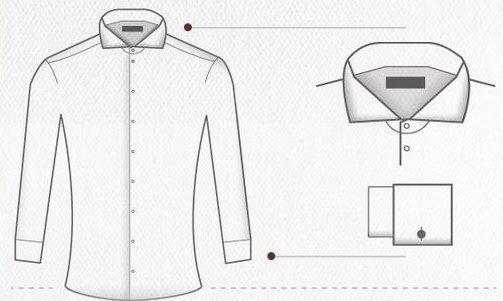 infographie bien choisir votre chemise blanche en fonction du contexte jamais vulgaire blog. Black Bedroom Furniture Sets. Home Design Ideas