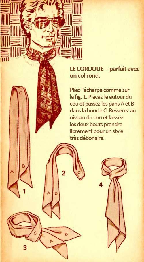 Conseils de style comment bien porter une echarpe pour homme jamais vulgaire blog mode - Nouer une echarpe ...