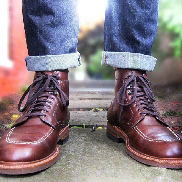 les indy boots d alden port es simplement avec un jean apc par thepacman82 jamais vulgaire. Black Bedroom Furniture Sets. Home Design Ideas